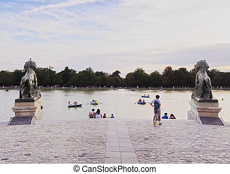 Retiro Park in Madrid - Spain, Madrid, View of the Alfonso...