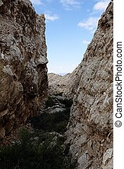 Rocky Mountains in Aspe, Alicante, Spain