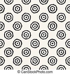 círculos, patrón,  seamless,  vector, negro, blanco, concéntrico