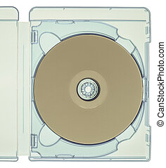 Vintage looking Bluray disc isolated - Vintage looking...