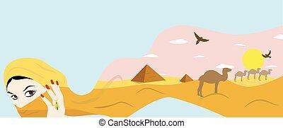 egypt and girl