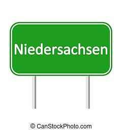 Niedersachsen road sign. - Niedersachsen road sign isolated...