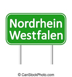 Nordrhein-Westfalen road sign. - Nordrhein-Westfalen road...