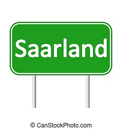 Saarland road sign. - Saarland road sign isolated on white...