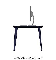 laptop desk workplace job graphic