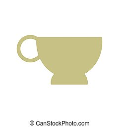 cup coffe break time office icon vector illustration eps 10