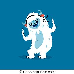 Cute yeti biigfoot monster vector set. - Cute yeti bigfoot...