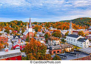 Burlington, Vermont Skyline - Burlington, Vermont, USA...