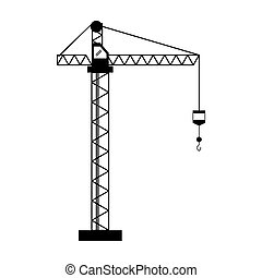 crane hook construction machine pictogram
