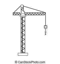 crane hook construction machine outline