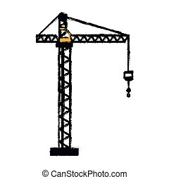 crane hook construction machine drawing