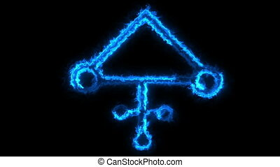 Alchemy Symbol - This is animated runic and alchemic sign....