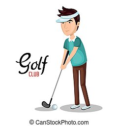 golf club sport icon