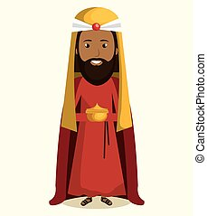 happy merry christmas manger character vector illustration...