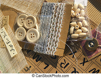 scrapbooking crafting items - selection of scrapbook and...