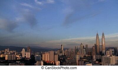 Kuala Lumpur timelapse - Kuala Lumpur cityscape timelapse at...
