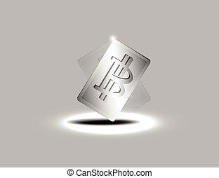Aluminium Baht Card,Vector Illustration