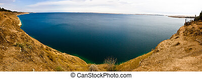 Lake Assad Syria - View across Lake Assad the reservoir...