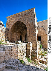 Citadel of Salaheddin ruins Syria - Historic remains of the...