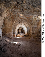 Saladin Castle stalls Syria - Ancient stalls in the historic...