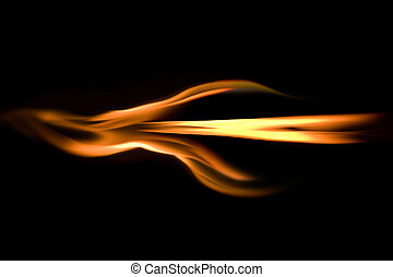 Flaming arrow - Arrow shape built with burning fire flames