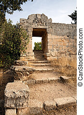 Church of Saint Simeon entrance - Entrance to the ruins of...