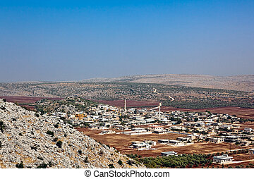 Syria typical small city - New city landscape in area of the...