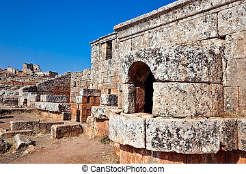 Serjilla Bathhouse furnace - Bathhouse furnace in old...