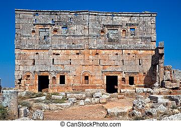 Serjilla two storey house Syria - Two storey house ruins of...