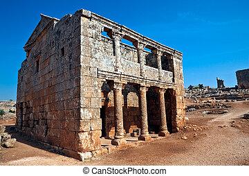 Serjilla Tavern exterior Syria - Tavern exterior in old...