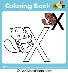 Illustrator of color book with xerus animal