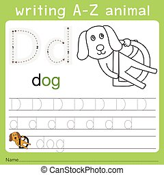 Illustrator of writing a-z animal d