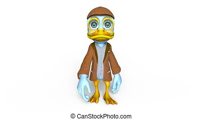 duck detective - Image of a duck detective.