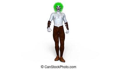 Clown makeup man