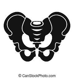 Pelvis icon, simple style - Pelvis icon. Simple illustration...