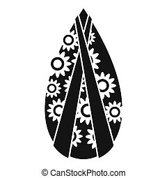 Memorial wreath icon, simple style - Memorial wreath icon....