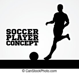 Silhouette Soccer Player Concept - A stylised illustration...