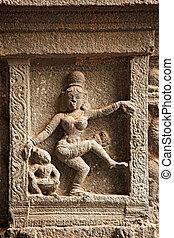Bas reliefs in Hindu temple
