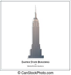 Empire State Building. Located in New York City, NY.