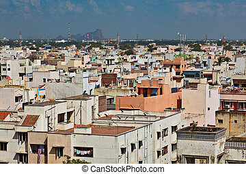 City Madurai, Tamil Nadu, India - Typical South Indian city...