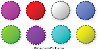Color bottle caps - Vector color bottle caps isolated over...