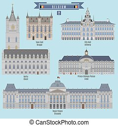 Famous Places in Belgium: Town Hall - Brugge, City Hall -...