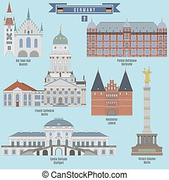 Famous Places in Germany: Town Hall, Munich; French...
