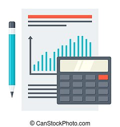 Financial Report Concept - Financial report concept with...
