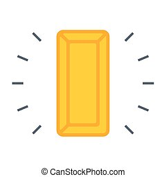 Gold Bullion Icon - Simple icon with gold bullion on white...