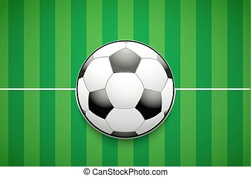 Poster Template of Football Field and Ball