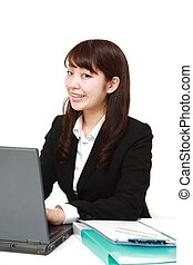 young Japanese office worker