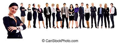 attractive business people - Young attractive business...