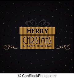 gift box for christmas festival design illustration