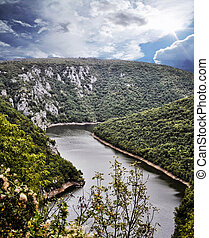 River Canyon packaging Bosnia and Herzegovina from a height...